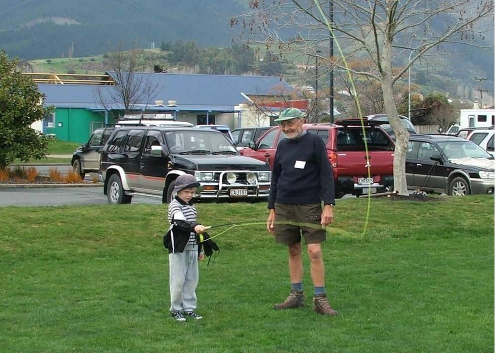 Ian Williams teaching young Mr Ward.JPG
