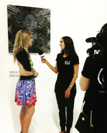 Interviewed during one of the numerous Art Exhibits in Miami, 2018