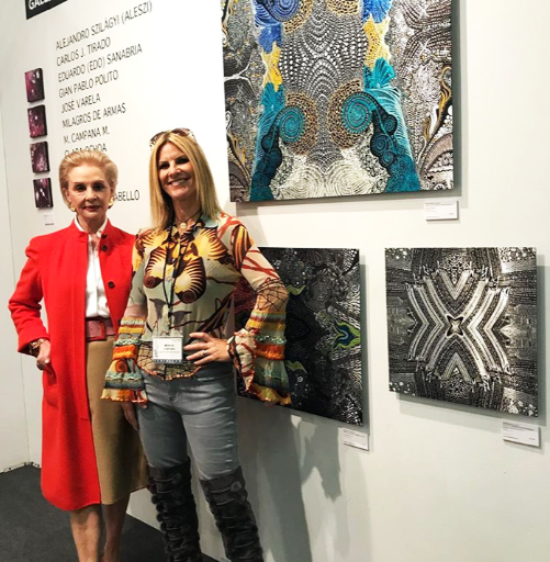 With World Designer Carolina Herrera at ArtExpo NEW YORK