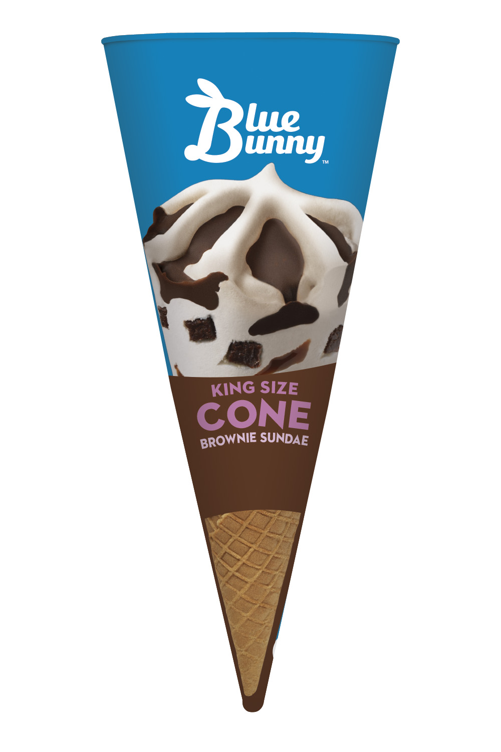 King Size Brownie Sundae Cone 8.0oz