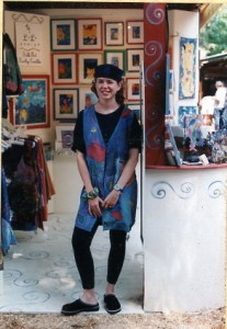 Kathy Crabbe at Sawdust Art Festival 1996
