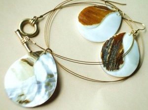 Featured Full Moon Artist - Shell necklace and Earrings Set