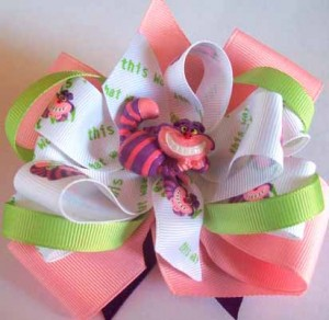 Alice In Wonderland Cheshire Cat Hair Bow