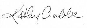 Kathy Crabbe signature