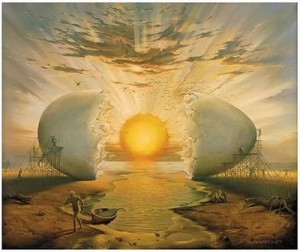Sunrise by the Ocean © Vladimir Kush