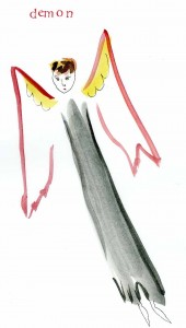 Demon. Watercolor on paper, 8 x 10 inches © 2010 by Kathy Crabbe