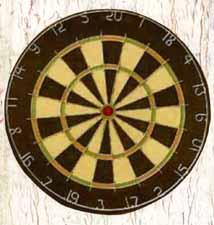 Divine Feminine dartboard