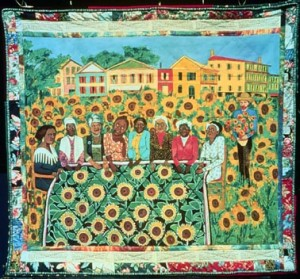 Faith Ringgold. Sunflower Quilting Bee at Arles