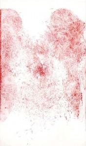 V Etch, 6.25 x 10.25, drypoint etching, 2011