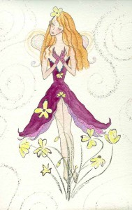 Kathy Crabbe. 2012. Wood Sorrel Fairy. Watercolor on paper, 8 x 10 inches.