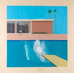 A Bigger Splash, 1967, acrylic on canvas, 96x96 in. © David Hockney