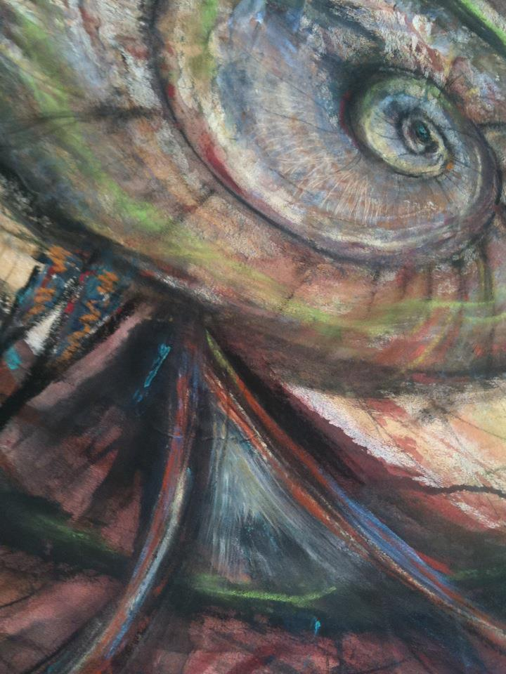 Detail of my Painting by Kathy CRabbe