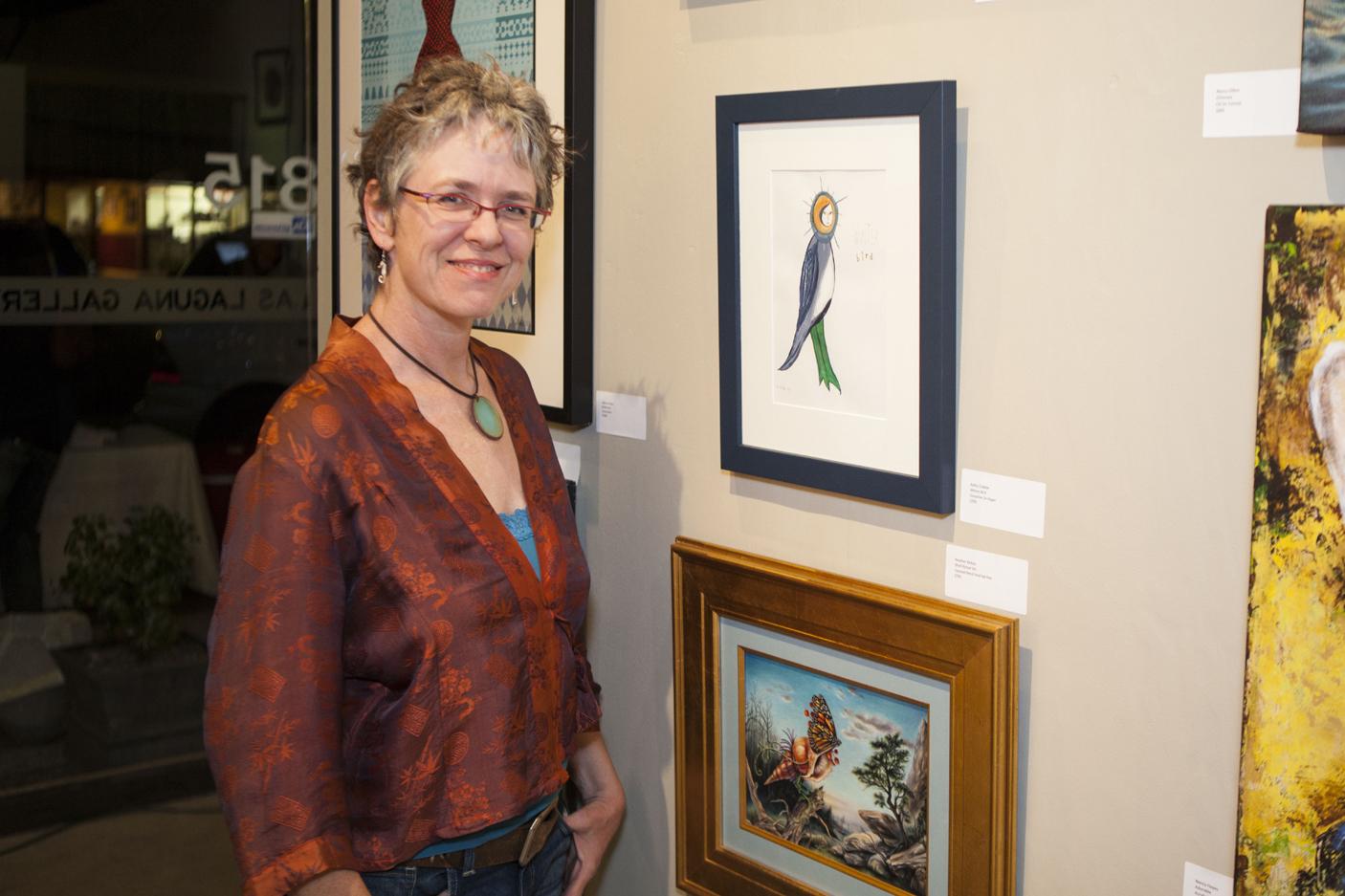 Kathy Crabbe at Las Laguna Gallery Opening, Laguna Beach 2013