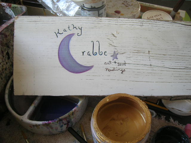 Kathy Crabbe handpainted sign & banner