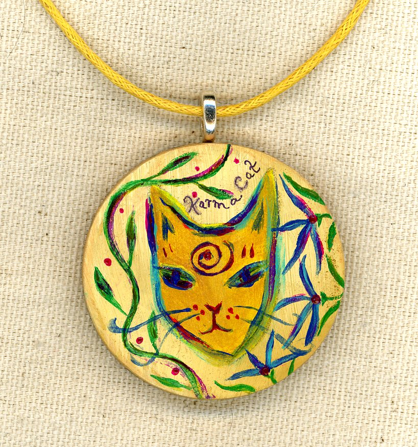 Karma Cat Necklace close up