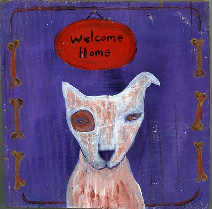Welcome Home painting by Kathy Crabbe