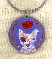 Welcome Home necklace by Kathy Crabbe