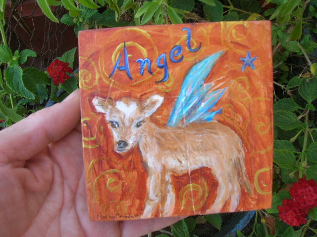 Angel (custom pet portrait) by Kathy Crabbe