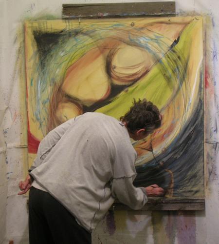 Painting large (Divine Feminine Series)