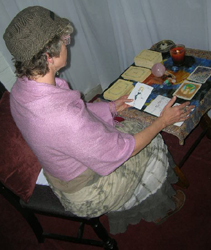 Kathy Crabbe at Gypsy Luv giving readings
