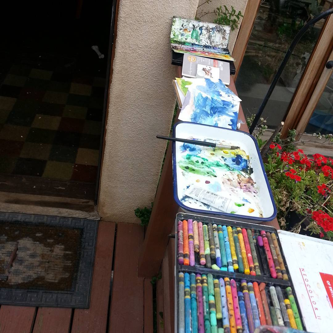 painting outside (plein air)