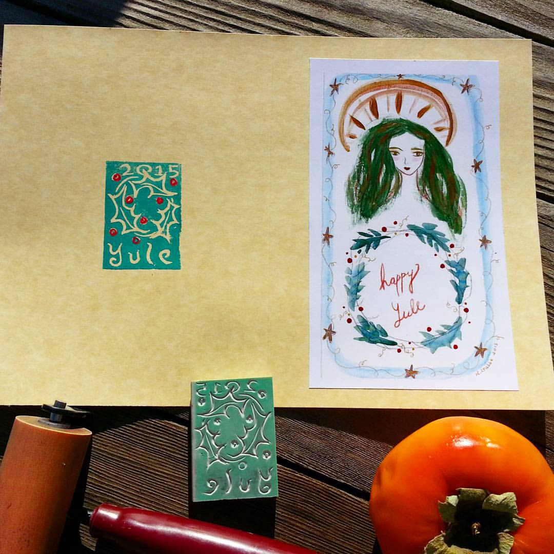 Yule Cards by Kathy Crabbe