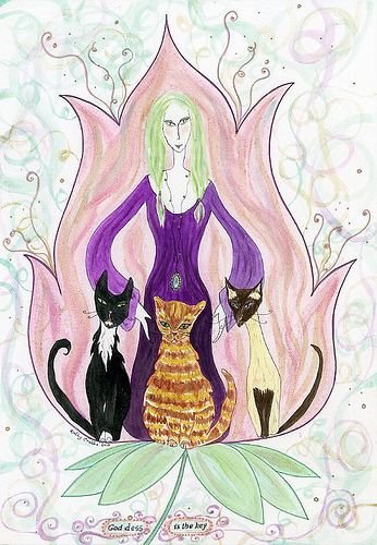 Goddess is key by Kathy Crabbe Art