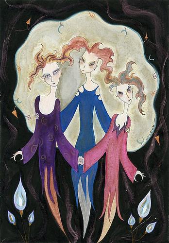 Trois Soeurs by Kathy Crabbe Art