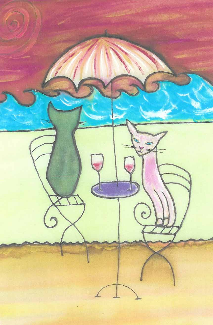 Cafe Cats by Kathy Crabbe