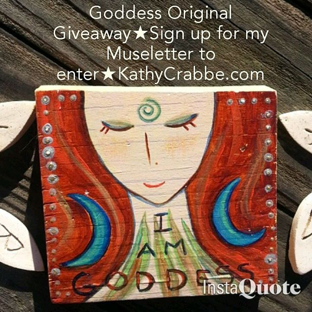 Goddess Original Giveaway by Kathy Crabbe