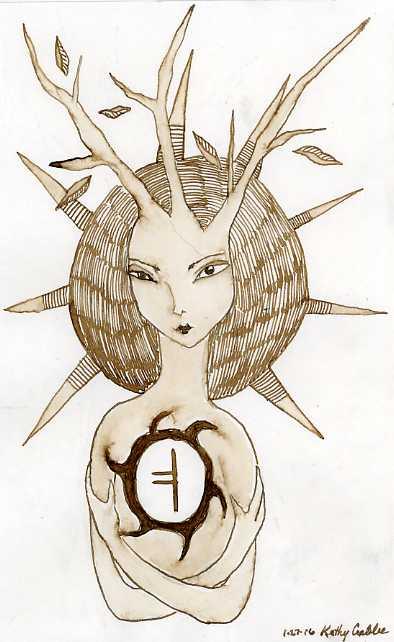 Runic Tree Goddess by Kathy Crabbe