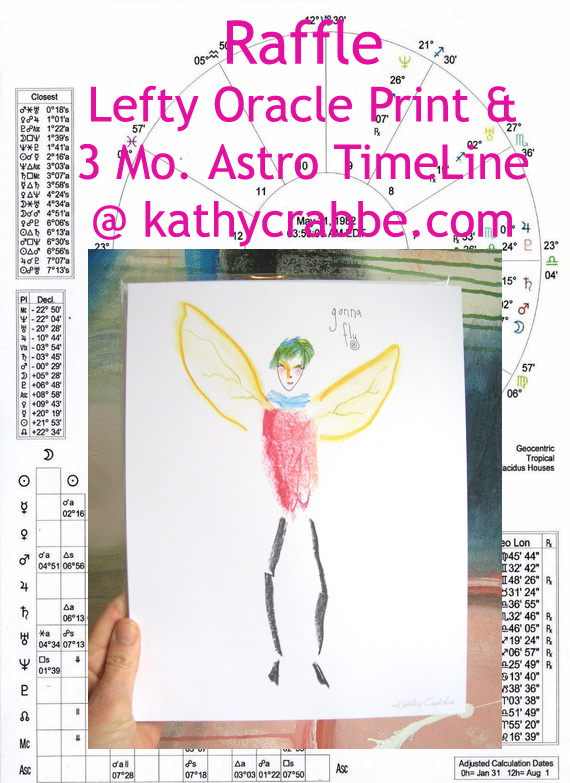 New Moon in Pisces Raffle by Kathy Crabbe
