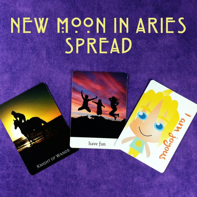 Kristen's Aries New Moon Oracle Spread