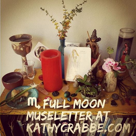 Full Moon in Scorpio Altar by Kathy Crabbe 2016
