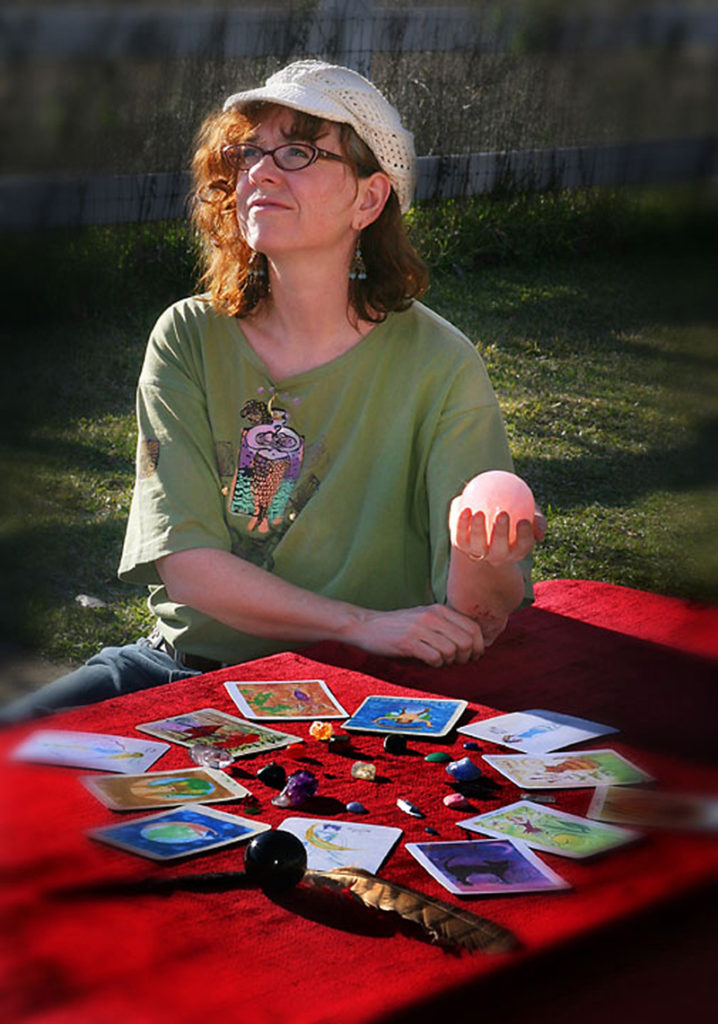 Kathy Crabbe, local artist, has touched many lives through the creation of a Lefty Oracle deck where she gives soul readings.