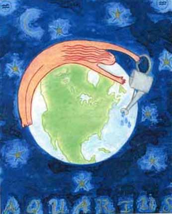 Aquarius Goddess by Kathy Crabbe