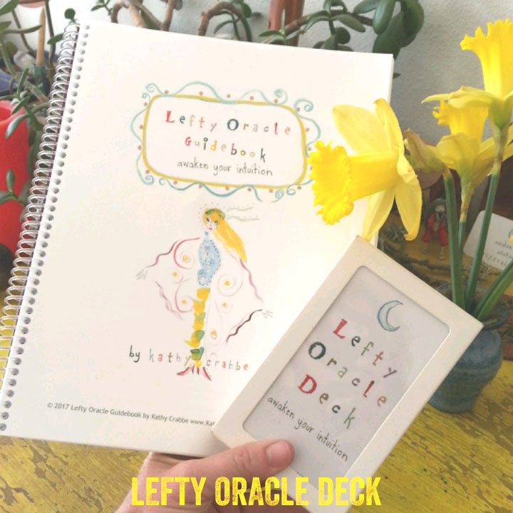 Lefty Oracle Deck and 92 page Guidebook by Kathy Crabbe - purchase here.