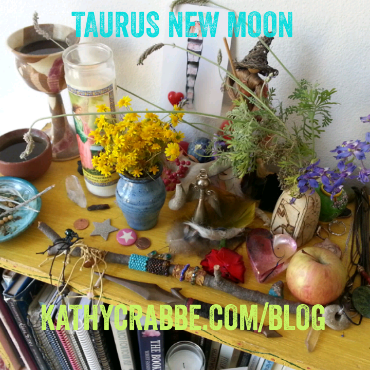 Taurus New Moon Altar by Kathy Crabbe