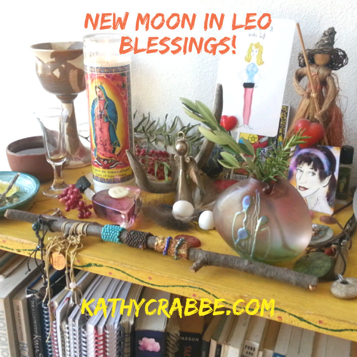 Kathy's Leo New Moon Altar
