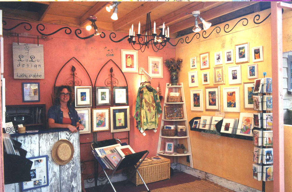 Kathy's Sawdust Art Festival Booth, Laguna Beach, California