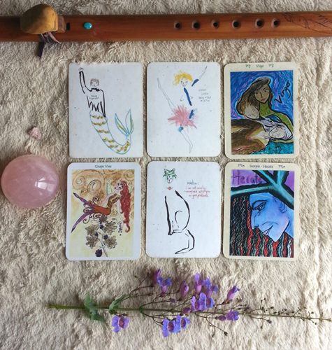 Soul Reading Spread with the Lefty Oracle Cards by Kathy Crabbe