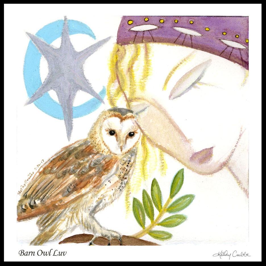 Barn Owl Luv  Print