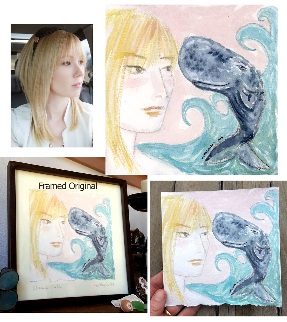 Whale Heart Custom Portrait
