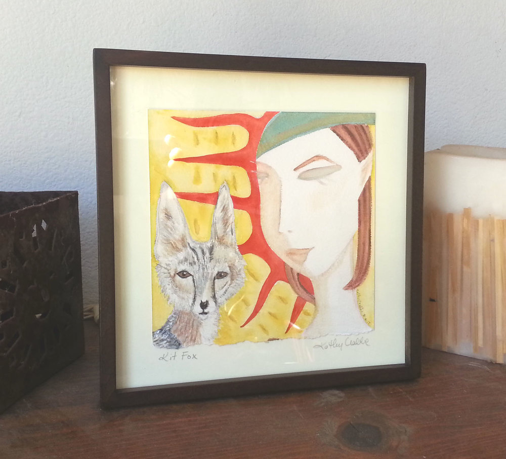 Kit Fox  Print  and  Original  are available.
