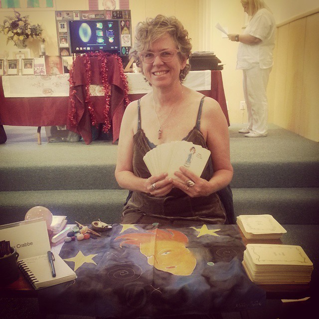 Kathy giving soul readings at Learning Light Foundation, Anaheim, California