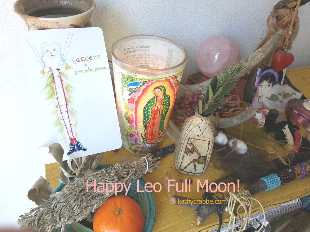 Leo Full Moon Altar