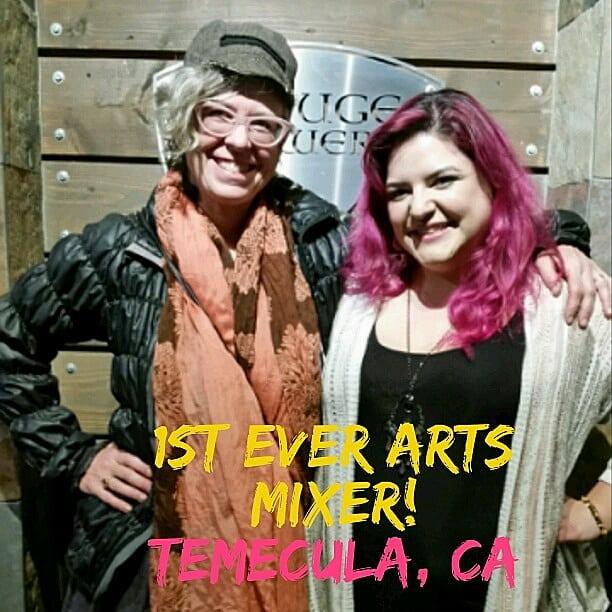 Kathy and Melody at Temecula Arts Mixer
