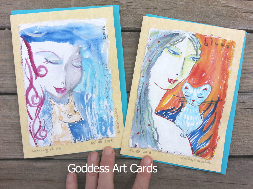 Goddess Art Cards by Kathy Crabbe