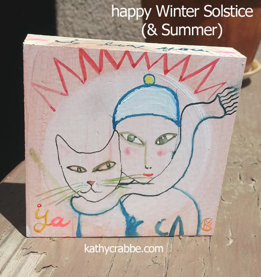 happy solstice by Kathy Crabbe