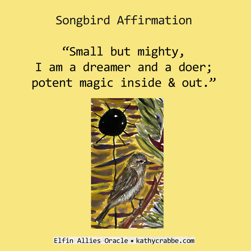 Songbird by Kathy Crabbe from the   Elfin Ally Oracle Deck   .